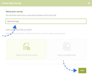 Create New Survey Overlay